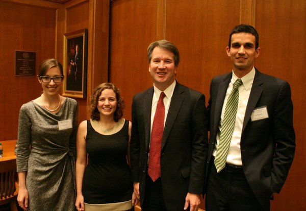 Notre Dame Law Review Students with Judge Kavanaugh